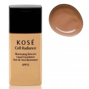 KOSE CELL RADIANCE SPF15 ILLUMINATING SKINCARE LIQUID FOUNDATION 204 LIGHT TAN