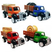 HALO NATION 4 in 1 Transport Trucks Set - Carrier Truck Styling 1:87 Alloy Diecast Vehicle Models Collection Kids Toy