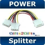 5 Pcs Qty 5.25 Molex PC Power Y Adapter Splitter Cable