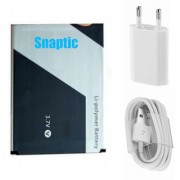 Snaptic Li Ion Polymer Replacement Battery for Xolo Q2000 with USB Travel Charger
