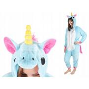 Costum Unicorn cu gluga pentru carnaval sau petreceri, marime M, culoare Albastru