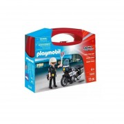 Playmobil Maletin - Policia Con Moto - 5648