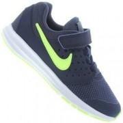 Nike Tênis Nike Downshifter 7 - Infantil - AZUL ESC/VERDE CLA