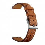 Genuine Leather Sharp Head Smart Watch Band for Huawei TalkBand B5/B3 Active/B2 Active 18mm - Brown