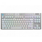 Геймърска механична клавиатура logitech g915 tkl tenkeyless lightspeed wireless rgb, gl tactile, white, 920-009664