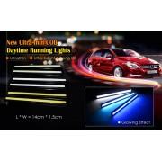 Мощни дневни LED светлини DRL за автомобил 2 х 8W - 2 бр. в комплект