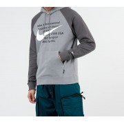 Nike Sportswear Swoosh Pullover FT Hoodie Particle Grey/ Iron Grey/ White