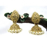 Pearl Round Small Jhumka Earring