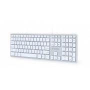 Tastatura Cu Fir Gembird KB-MCH-02-W Multimedia USB, Alb-Gri