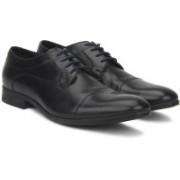 Clarks Banfield Cap Black Leather Lace Up For Men(Black)