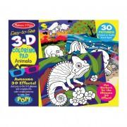 Melissa & Doug Kreatív játék, 3D színező könyv, állatok