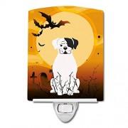 """Caroline's Treasures Caroline 's Treasures Halloween Blanco Boxer Cooper cerámica luz de Noche, 6 x 4"""", Multicolor"""