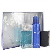 Roberto Vizzari Eau De Toilette Spray 3.3 oz / 97.59 mL + Deodorant Spray 6.6 oz / 195.18 mL + Card Holder Gift Set 542541