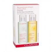 Clarins Cleansing Milk With Alpine Herbs darovni set losion za čišćenje kože 400 ml + vodica za čišćenje kože 400 ml