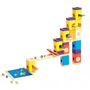 Hape Quadrilla Marble Runs Kids Wooden Music Motion Blocks Play Set with Marbles