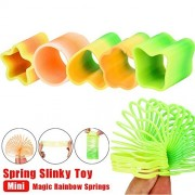 Anyren Education Toy Mini Magic Rainbow Springs Circles Slinky Kill Time Rainbow Spring Slinky Toy For Kids and Adults