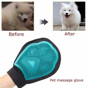 Pet Grooming Shower Bath Massage Brushes Combs Hand Shaped Glove Removal