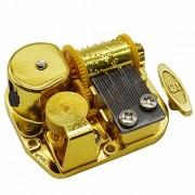 MAYMII Gold Plating 18 Note Musical Movement-Different Tunes Available (Tune is Blue Danube)