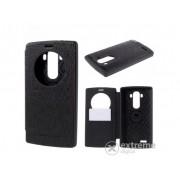 Husa din piele Mercurycase Wow Bumper S-View cover pentru LG G4 (H815), negru