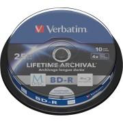 VERBATIM 43825 - BD-R, 25GB, bedruckbar, 10er-Pack (M-DISC)