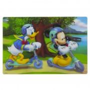 Disney 3D placemat Disney Mickey en Donald steppen 42 x 28 cm