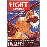 FIGHT STORIES-SPG 1950-JOE LOUIS RING STORY-BOXING PULP THRILLS-FICTION HOUSE