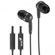 Слушалки с микрофон GENIUS HS-M320, стерео, 3.5 мм жак, черни, 31710005412