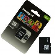 Pour WIKO RAINBOW LITE : Carte Memoire 8 Go Micro Sd Hc + Adapt Sd Integral