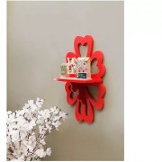 Onlineshoppee Beautiful MDF Decorative Wall Shelf - Red