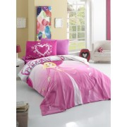 Lenjerie de pat pentru copii Valentini Bianco model Princess