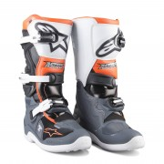 Alpinestars Crosslaarzen Alpinestars Tech 7 S Oranje-Grijs-Wit-Zwart - Zwart