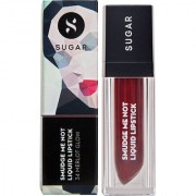 SUGAR Smudge Me Not Liquid Lipstick - 34 Merlot Glow (Metallic Burgundy)