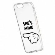 Husa Silicon Transparent Slim Hes Mine 106 Apple iPhone 6 PLUS 6S PLUS