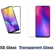 Oppo Realme U1 5D Black Tempered Glass With Transparent Glass Combo Deal Standard Quality