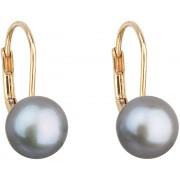Evolution Group Cercei perla de aur cu perle autentice Pavon 921009.3 gri
