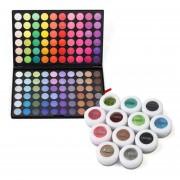 120 Colores De Sombra De Ojos Paleta De 5 A 12 Polvos Minerales Pigmento Sombras De Ojos