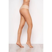 Dres dama nude tip plasa din material elastic cu un calcai curbat