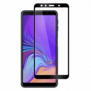 Folie protectie pentru Samsung Galaxy A7 2018 din sticla securizata full size negru