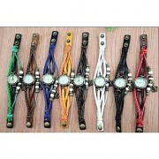 i DIVAS New Branded Green Leather Strap Watch Hand-knitted Leather watch women' watches