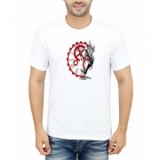 DOUBLE F ROUND NECK HALF SLEEVE WHITE COLOR UNIQUE WATCH PRINTED T-SHIRTS