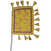 Apex Self Design Yellow Hand Fan(Pack of 1)