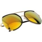 Aislin Over-sized Sunglasses(Orange, Golden)