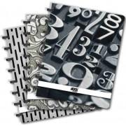 Caiet A4, 72 file - 90g/mp, coperta PP, AURORA Adoc Black collection - matematica