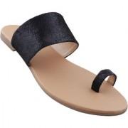 Picktoes Women Casualwear Black Slip-on Flat