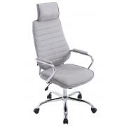 CLP Poltrona ufficio Rako in tessuto, grigio chiaro , grigio chiaro, altezza seduta