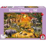Puzzle Animale in Africa, 150 piese