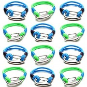 Frog Sac Cub Scout Party Favors for Boys Girls Kids Teens - 12 Pcs Multi Bungee Cord Tactical Survival Bracelets Camping Accessories, Outdoors, Hiking Gear, Scouting Stuff Cool Gadgets Scouts