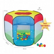Cort de joaca Copii cu 100 bile Bendix