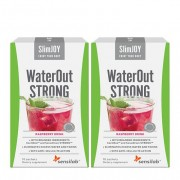 Sensilab WaterOut STRONG 1+1 ZDARMA Přírodní diuretika Odvodnění organismu a hubnutí Kúra na 20 dní Malinový nápoj 2x 10 sáčků
