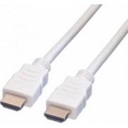 Cablu Value HDMI v1.4 19T-19T ecranat 15m Alb